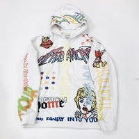 LIFTED UNCHORS/Taboo  Hoodie WHITE