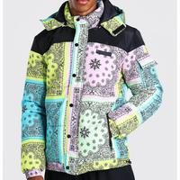 BOOHOO /BANDANA Puffer Jacket