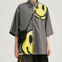 WOSS.official/BIG SMILE cotton shirts Grey