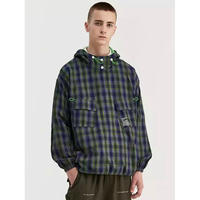 WOSS.official/Plaid Anorak Jacket GREEN