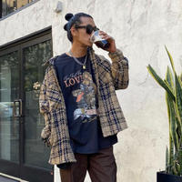 EPTM/Tweed Heavy Flannel shirt KHAKI