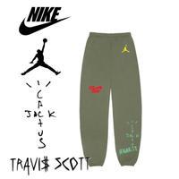 "Nike × Travis Scott /Cactus Jack JORDAN Sweat Pants ""OLIVE"""