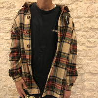 Mismatch NYC/Oversized Flannel shirts  (SHORT) BROWN