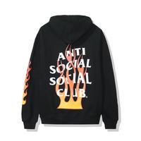 Anti Social Social Club/FLAME Logo フーディー BLACK