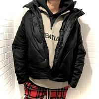 COLLUSION Studios /layered Puffer Jacket BLACK