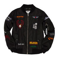 Reason Clothing Newyork/Patched Bomber Jacket