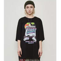 WOSS.official/GAME BOY Oversized  Tee BLACK