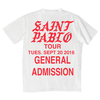 Saint PABLO Tour/official Tshirt ホワイト