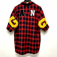 Mismatch NYC/G.A.N.G  half sleeve shirts  レッド