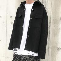 URKOOL/SUEDE Shirts JACKET  BLACK
