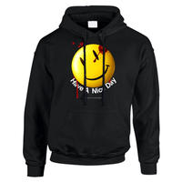 "R MAX Clothing/Art ""Smily"" Hoodie BLACK"