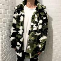 "Mismatch NYC/Fur Coat  ""CAMO"""