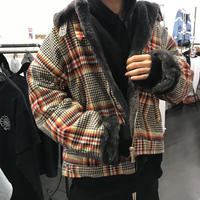 WOSS.official/Oversized flight check jacket