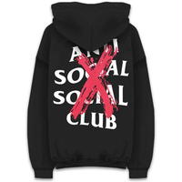 Anti Social Social Club/XX Logo フーディー BLACK