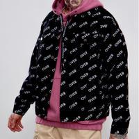WOSS.official/ logo black denim jacket