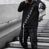WOSS.official/lace up crewneck