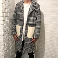Mismatch NYC/Check Long Coat
