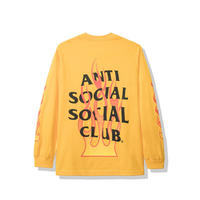 Anti Social Social Club/FLAME Logo Long Sleeve  Yellow
