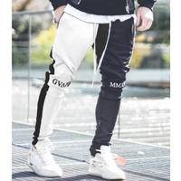 GUAPI/FUSION Track Pants BLACK×WHITE
