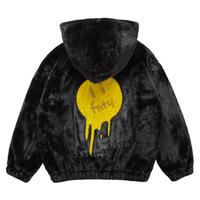 FNTY/FUR Jacket Crystals Melting face BLACK
