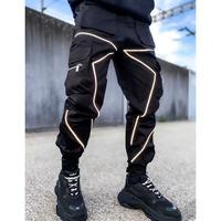 GUAPI/ Obsidian Black reflective cargo pants