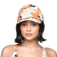 Kylie jenner/official CAMO CAP オレンジ