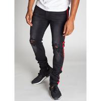 KDNK/Side line denim pants