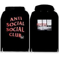 Anti Social Social Club × HONDA /LOGO Hoodie BLACK