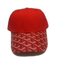 No Face No case/Custom Red Leather Brim Cap