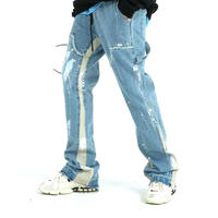 """WOSS.official/Buggy  denim pants """"WHITE LINE"""""""