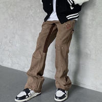 """WOSS.official/Buggy  denim pants """"Brown """""""