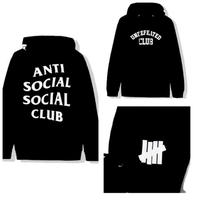 Anti Social Social Club ×UNDEFEATED /LOGO Hoodie BLACK