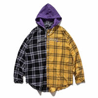 WOSS.official/Hooded patchwork shirt