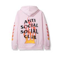 Anti Social Social Club/FLAME Logo フーディー PINK