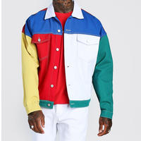 BOOHOO /COLOUR BLOCK Denim Jacket