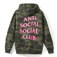 Anti Social Social Club/Logo フーディー CAMO×PINK