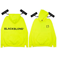 BLACK BLOND/BB logo smile  Hoodie  Neon Yellow