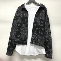 BOOHOO/BANDANA Denim Jacket Black