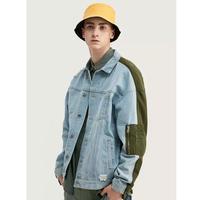 WOSS.official/Patchwork denim Jacket  BLUE
