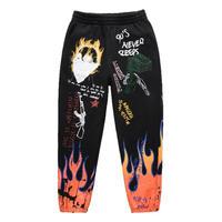 FNTY/Flying FLAME PANTS BLACK