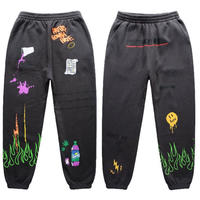 FNTY/Flying FLAME Sweat pants Faded Black
