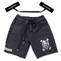 BLACK BLOND/CUSTOM Denim Shorts BLACK