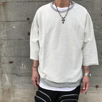 Mismatch NYC/inside out cut off crewneck  GRAY