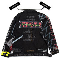 BLACK BLOND/CUSTOM Denim Jacket(BLACK)