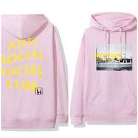 Anti Social Social Club × HONDA /LOGO Hoodie PINK