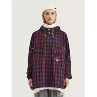 WOSS.official/Plaid Anorak Jacket RED