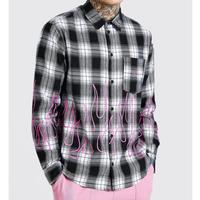 BOOHOO /Flame Check shirts Black