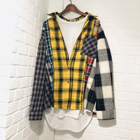 WOSS.official/ patchwork shirt