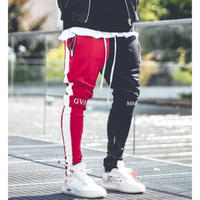 GUAPI/FUSION Track Pants RED×BLACK