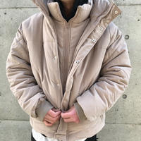 COLLUSION Studios /layered Puffer Jacket MOCHA